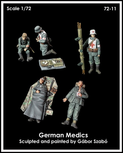 1//72 Resin WWII German Wounded Soldiers Kit Unassembled Unpainted A7202